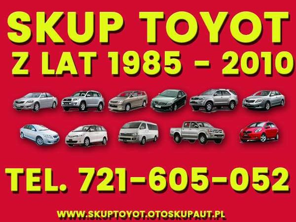 Kupię, Skup Aut Toyota Carina,Avensis,Corolla i inne Kalisz