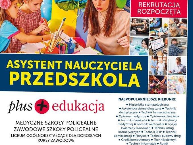 Plus Edukacja Asystent Nauczyciela Przedszkola!