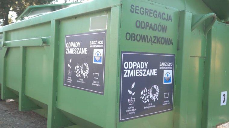 segreguj śmieci na cmentarzu