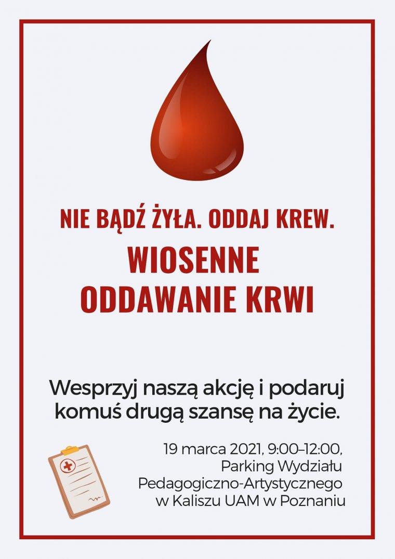 źródło: fb/Rada Samorządu Studentów Wydziału Pedagogiczno-Artystycznego UAM w Kaliszu