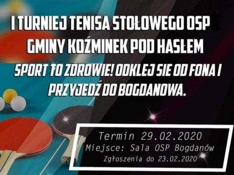 I Turniej Tenisa Stołowego OSP Gminy Koźminek