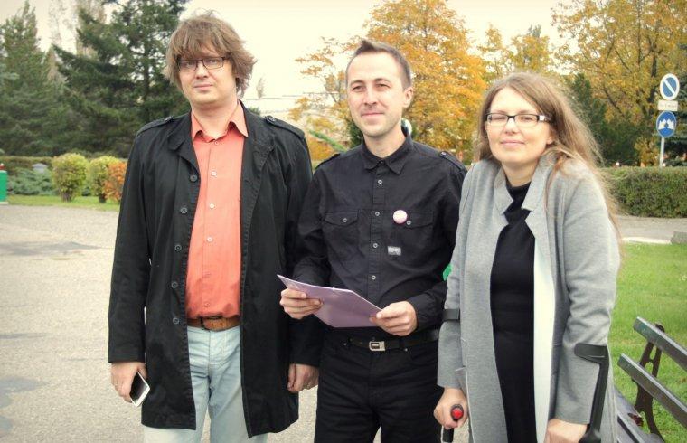a98289ba048988 Od lewej: Paweł Kleczewski, Konrad Nowacki oraz Beata Błażejczak -  Kleczewska/ fot.